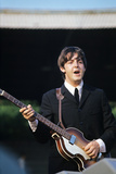 Paul Mccartney Playing Bass and Singing Photographic Print