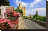 King's Tower with Parish Church of Saint-Emilion, Department Gironde, Aquitaine, France Stretched Canvas Print