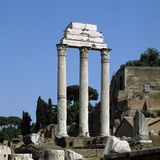 Temple of Castor and Pollux (Tempio Dei Dioscuri), 1st Century A.D. Photographic Print