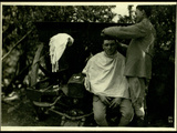 On the Bainsizza, the Barber in the Battery Photographic Print