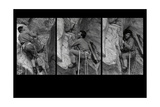 Three Shoots Sequence of Walter Bonatti Climbing the Grand Capucin Photographic Print