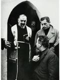 Padre Pio of Pietrelcina with Fausto Coppi Photographic Print