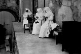 Maltese Cross Hospital. Nurses Nuns in a Moment of Relax Photographic Print