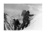Two Hunza Porters Climb Up To the Fourth Camp on the Abruzzi Spur of K2 Photographic Print