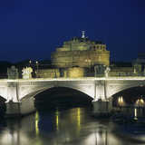 View of Vittorio Emanuele II Bridge and Castel Sant'Angelo Photographic Print by Ennio De Rossi