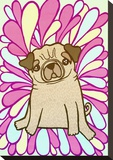Pug Stretched Canvas Print by  My Zoetrope