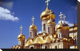 Kremlin Cathedrals, Moscow Stretched Canvas Print