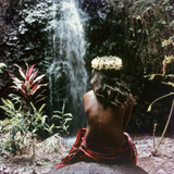 Tahitian Vahiné Girl Photographic Print