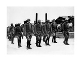 Italian Soldiers Marching Towards the Front Photographic Print