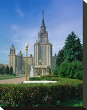 M. V. Lomonosov Moscow State University, Moscow, Russia Stretched Canvas Print