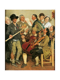 Corn Husking Giclee Print by Johann Zoffany