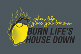 Burn Life's House Down Snorg Tees Plastic Sign Plastic Sign by  Snorg