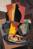 Large Still Life with a Pumpkin Giclée-tryk af Gino Severini