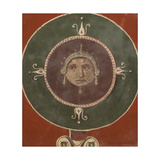 Medallion with Female Mask Giclee Print by  Unknown