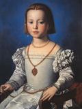 Portrait of Bia De Medici Giclée-tryk af Agnolo Bronzino