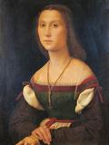 Portrait of a Woman (La Muta) Giclée-tryk af Raffaello Sanzio