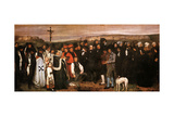 Funeral at Ornans Giclee Print by Gustave Courbet