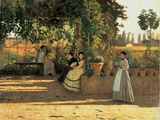 One Afternoon (Or the Pergola) Reproduction procédé giclée par Silvestro Lega