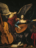 St Cecilia and the Angel Giclee Print by Carlo Saraceni