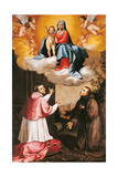 Madonna and Child with St. Charles Borromeo and Blessed Ranieri Giclee Print by Alberti Pierfrancesco
