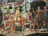 Magi Chapel. Journey of the Magi (the Magi Ride) Giclee Print by Benozzo Gozzoli