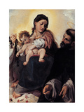 Madonna with Child and St Dominic (Madonna of Rosary) Giclée-tryk af Ludovico Carracci