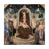 Holy Conversation. Madonna and Child Enthroned Giclee Print by Bartolomeo Vivarini