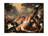 Crucifixion of St Peter Giclee Print by Luca Giordano