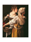 Judith and Her Maidservant (Judith with Holofernes Head) Giclée-tryk af Artemisia Gentileschi
