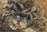 Charge Lancers - Cavalry Charge (Carica Di Lancieri - Carica Di Cavalleria) Giclee Print by Umberto Boccioni