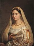 La Donna Velata Giclée-tryk af Raffaello Sanzio