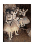 Dance Foyer at Opra (Paris) Giclee Print by Edgar Degas