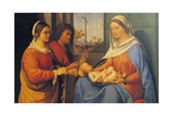 Sacred Conversation Giclee Print by Sebastiano del Piombo