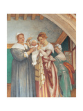 The Nativity of the Virgin Mary, by Lotto Lorenzo, 1525, 16th Century, Fresco Giclee Print by Lotto Lorenzo