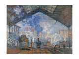 Saint Lazare Station Giclee Print by Claude Monet
