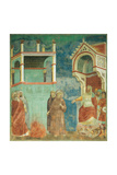 St Francis Before the Sultan (Trial by Fire) Giclee Print by  Giotto di Bondone