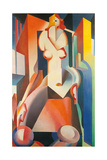 Female Structure Giclee Print by Enrico Prampolini