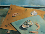 Marine Still Life with Scampi Giclee Print by Filippo De Pisis