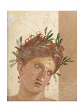 Crowned Young Girl Giclee Print by  Unknown