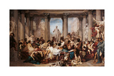 Romans of the Decadence Giclee Print by Thomas Couture