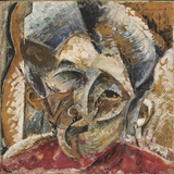 Dynamism of a Woman's Head or Head of a Woman or Decomposition of a Woman's Head Giclee Print by Umberto Boccioni