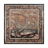 Sea Fauna with Fishes Giclee Print by Alexandrian workers