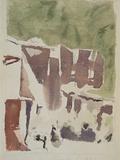 Landscape (House in Ruins) Giclee Print by Morandi Giorgio