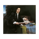 Portrait of a Gentleman in His Study Giclee Print by Lorenzo Lotto