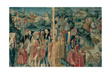 Courtly Scene (Hunting Scene) Giclee Print by  Flemish