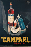 Poster Advertising Campari Laperitivo Gicléedruk van Marcello Nizzoli
