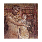 Chiron and Achilles Child, 1st Century, Fresco (Mural) Giclee Print by Unknown Artist