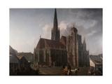 Saint Stepher Cathedral in Wien Giclee Print by Rudolf von Alt