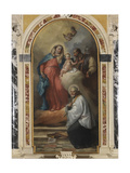 Madonna and Child with St. Joseph and St. Vincent De' Paoli Giclee Print by Francesco Zugno