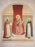 Enthroned Madonna and Child with Saints Giclee Print by  Fra Angelico